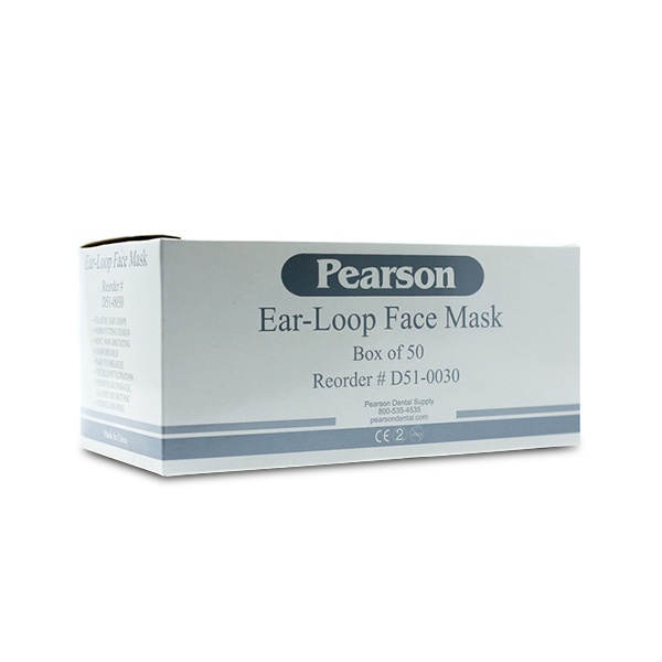 box Earloop Masks Face 50